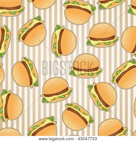 Fast food seamless pattern background.