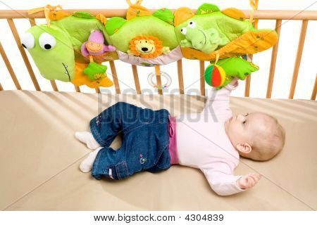 Baby Austragungsortes auf Bett