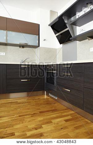 Modern kitchen in city apartment
