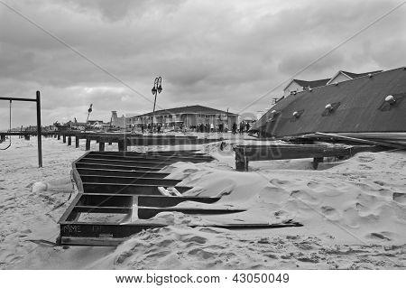 Damaged Boardwalk Belmar
