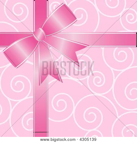 Big Pink Ribbon Bow