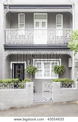 An image of a terrace house in Paddington Sydney