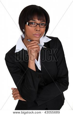 An African American businesswoman.