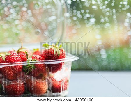 Strawberry In Plastic Package