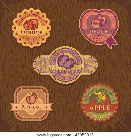 Vintage Fruit Label