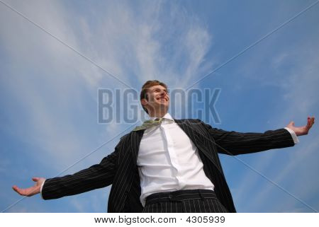 Businessman And Sky