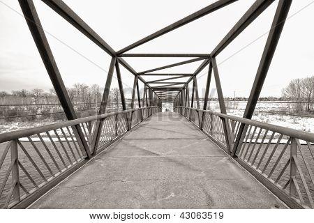 Sepia Trestle Bridge