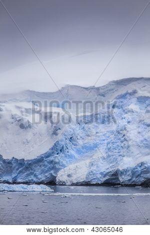 Snow Covered Icebergs
