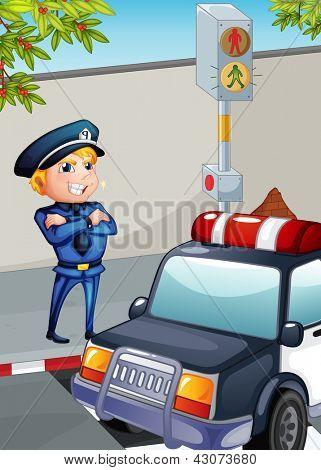 Illustration of a traffic enforcer
