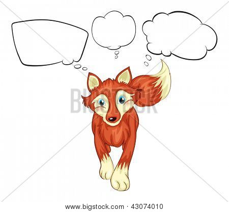 Illustration of an animal with the blank callouts on a white background