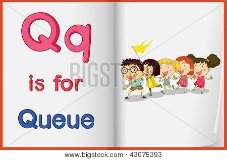 Hoja de trabajo de alfabeto para la letra Q