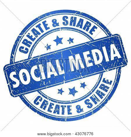 Vector social media stamp