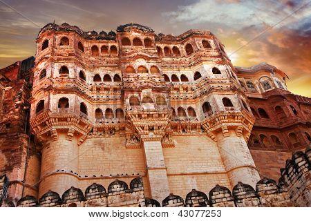 Mehrangarh Fort, Jodhpur . Rajastan. India