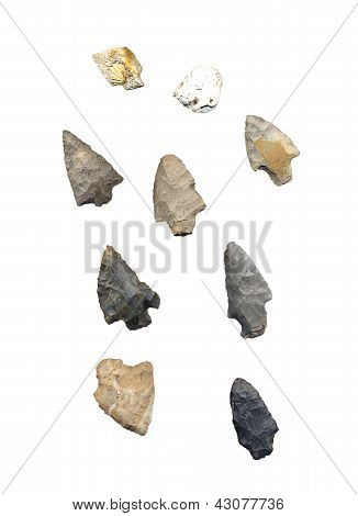Assortment Of American Indian Arrowheads