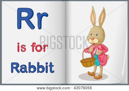 Hoja de trabajo de alfabeto para la letra R