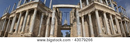Main Entrance Of The Roman Theatre, Merida