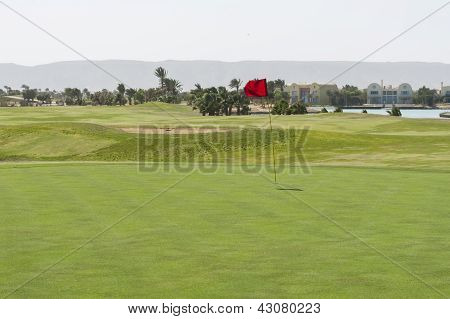 View From The Green On A Golf Course