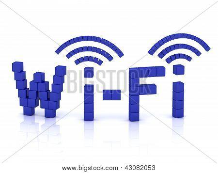 Wi Fi de cubos con antenas