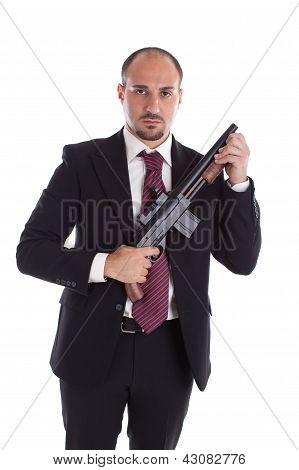 Armed Mobster
