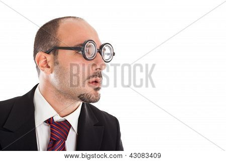 Poor Sight Businessman