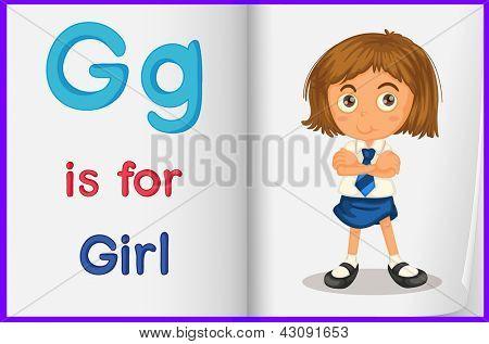 Hoja de trabajo de alfabeto para la letra G