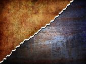 foto of digitalis  - Digitaly generated abstract rusty metal background with torn edges - JPG