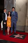 LOS ANGELES - MAR 7:  Dave Franco, Betsy Franco, James Franco at the Hollywood Walk of Fame Ceremony