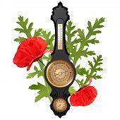 stock photo of barometer  - Summer illustration  - JPG