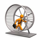 foto of hamster  - Businessman in the hamster running wheel - JPG