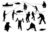 stock photo of fishing rod  - Fishermen.