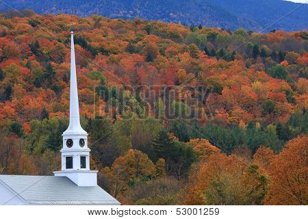 Stowe church steeple
