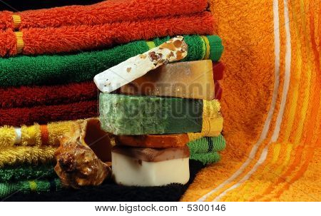 Handmade Soap And Towels