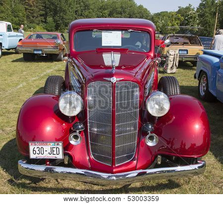 1934 Buick 57 Red Car Front View