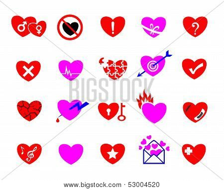 Colorful Heart Concept