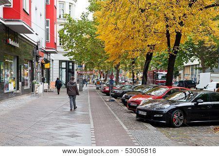 Potsdamer Strasse In Berlin In Autumn