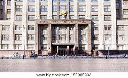 State Duma Of Russian Federation In Moscow