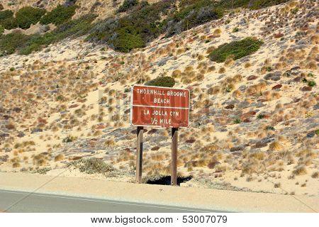 Run Down Road Sign at PCH-1