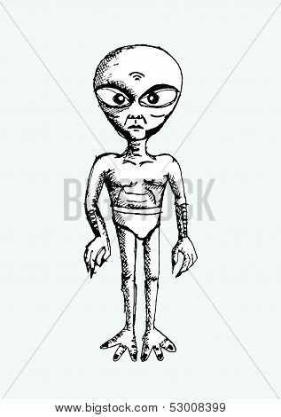 Cartoon Character Alien