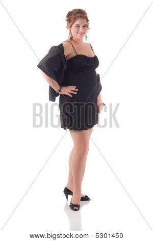 Teenage Girl In Black Formal Dress