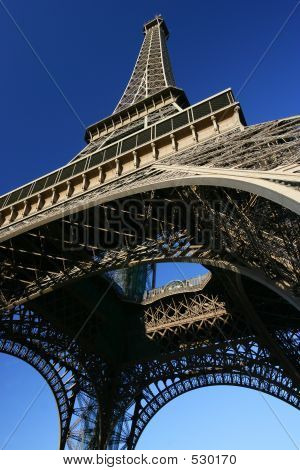 Looking Up At The Eiffel Tower.