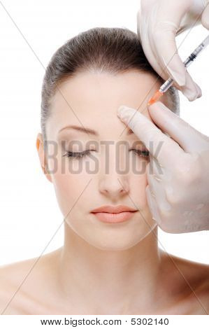 Injection In The Eyebrow