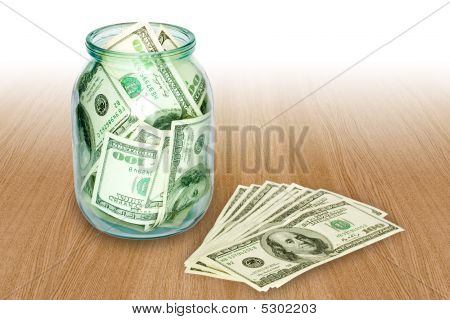 Money In The Jar Isolated