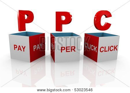 3D Box Of Ppc - Pay Per Click