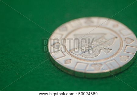 Lucky poker chip