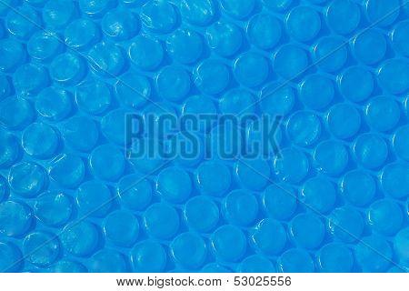 Blue Plastic Bubble Wrap Texture.