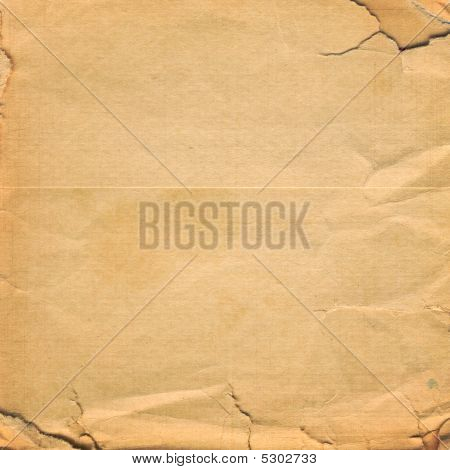 Grunge Crumpled Paper Design In Scrapbooking Style