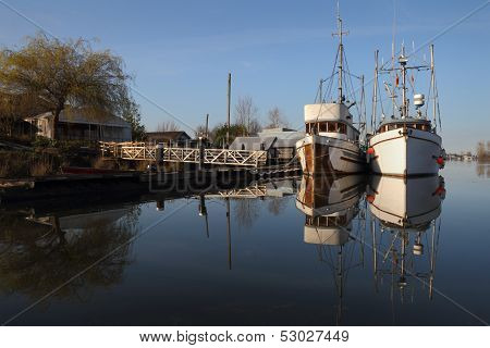 Fishboats, Ladner, British Columbia