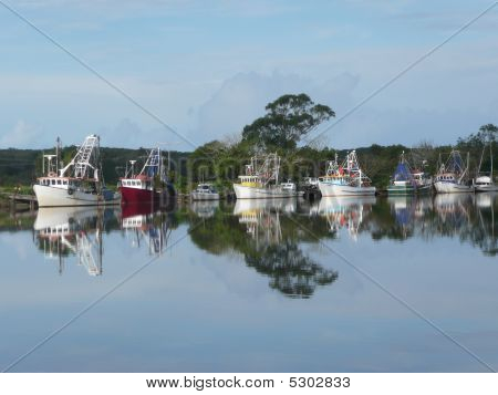 Reflections Of The Jerseyville Fishing Fleet