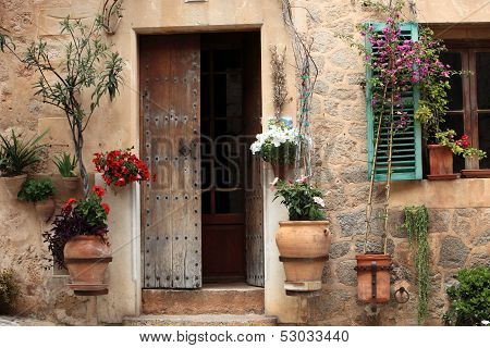 Pretty Entrance To A Rural House