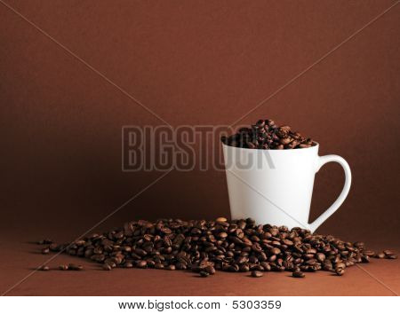 Coffee Beans And Mug Landscape